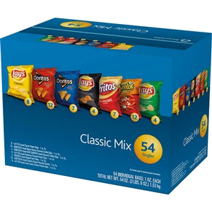 Frito Lay Classic Mix Variety  Pack (1 oz., 54ct.)