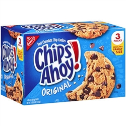 Chips Ahoy Cookies, 3 -18.2 oz packs
